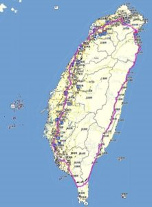 900km long cycling path around Taiwan