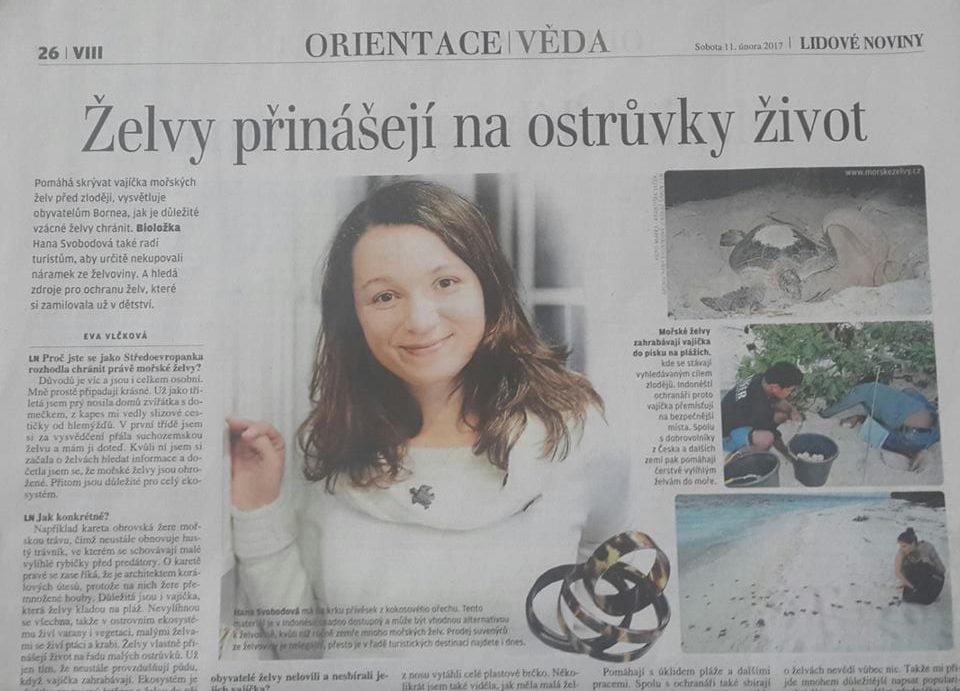 Hana Svobodova v novinach